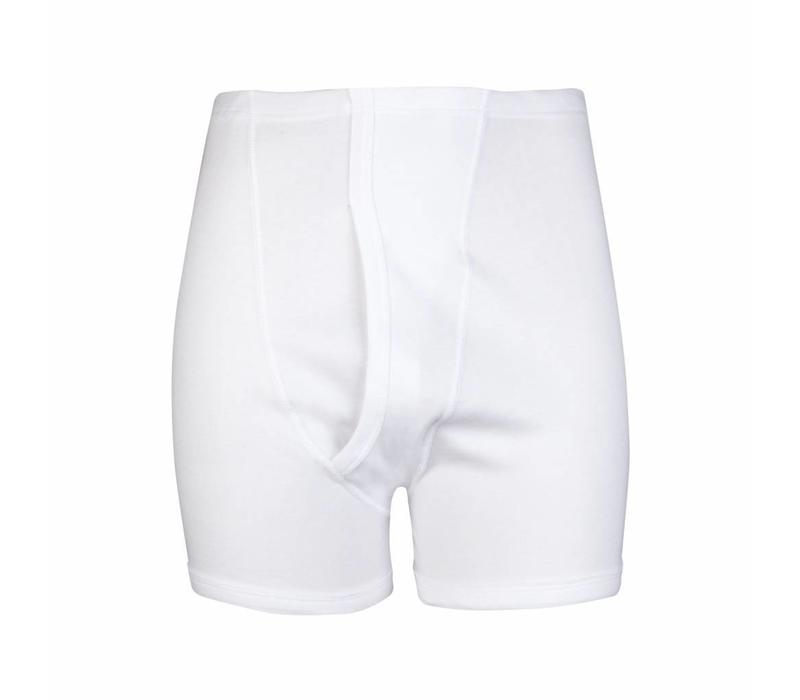 heren sportbroek met gulp wit
