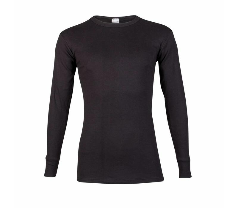 heren T-shirt lange mouw M3000 zwart