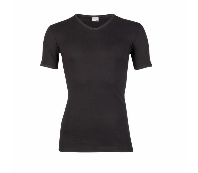 heren T-shirt V-hals M3000 zwart