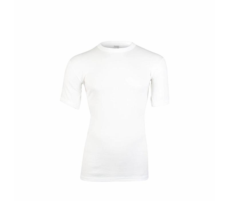 heren shirt korte mouw thermo wit