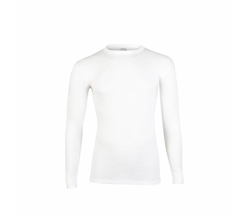 heren shirt lange mouw thermo wit