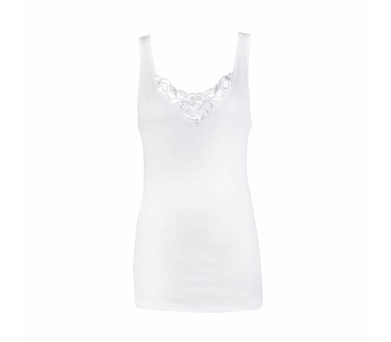 dames hemd viola wit
