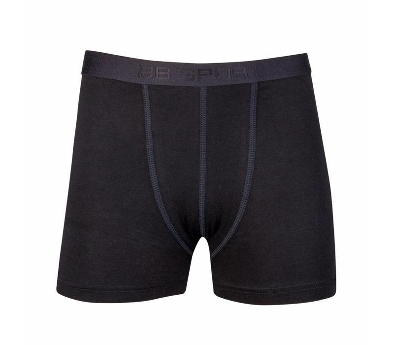 jongens boxershort comfort feeling zwart 2-Pack
