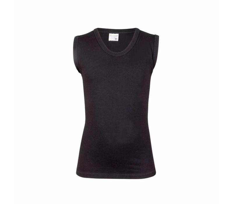 jongens mouwloos shirt comfort feeling zwart