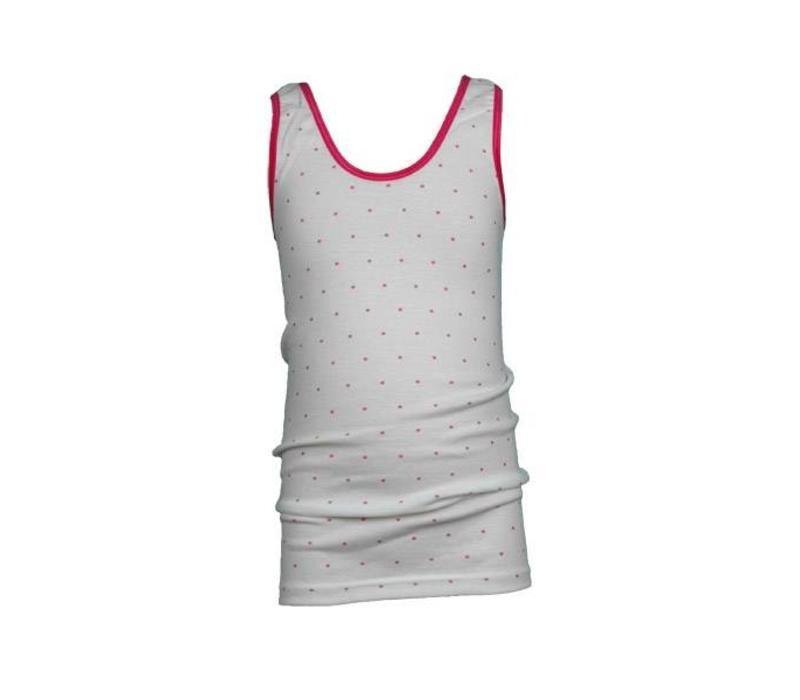 meisjes hemd roze stip