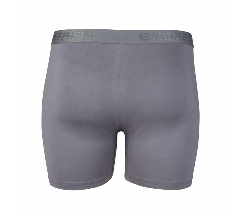 heren boxershort met gulp grijs 2-Pack