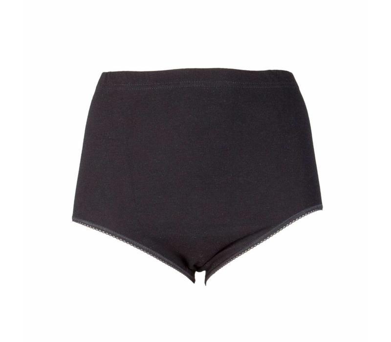 dames maxislip briljant zwart 2-Pack