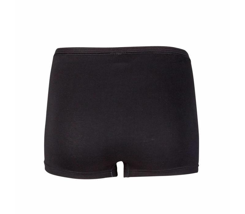 dames boxer comfort feeling zwart 2-Pack