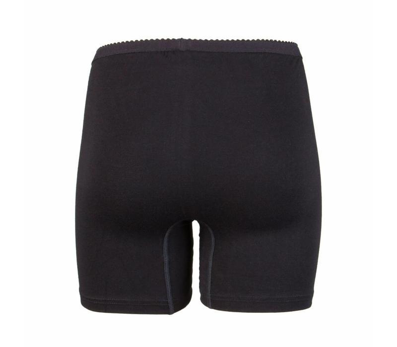 dames boxer softly zwart 2-Pack