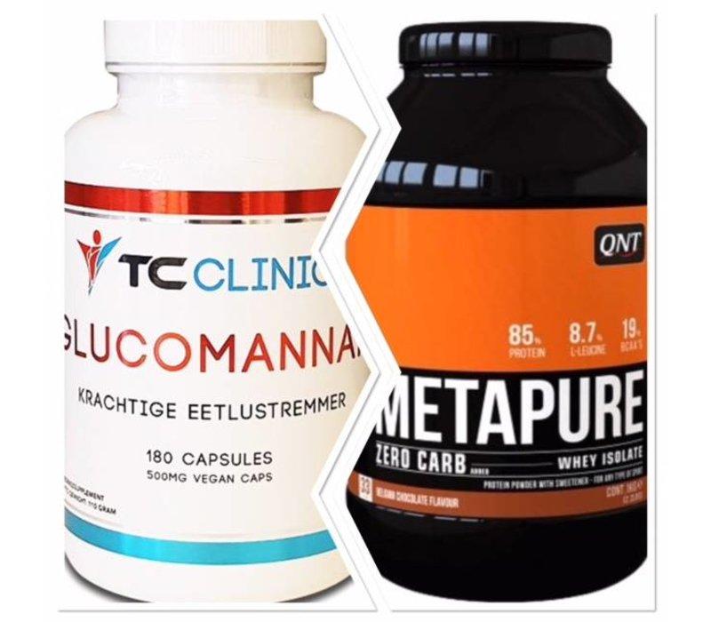 Combi deal Glucomannan fatburner en de QNT metapure zero carbs