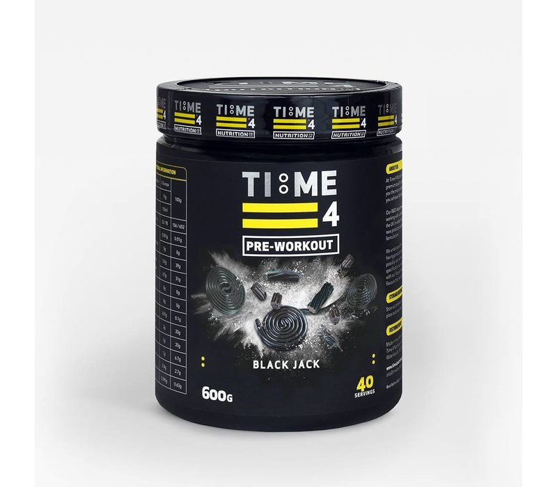 Time 4 Nutrition pre-workout 600 gram