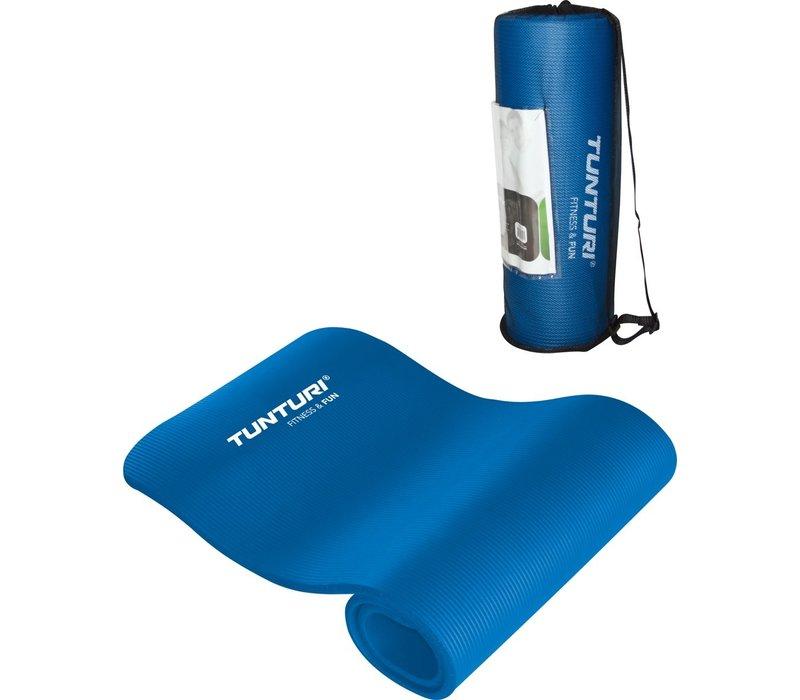 Tunturi NBR - Fitnessmat - Met draagtas - 180 cm x 60 cm x 1.5 cm -