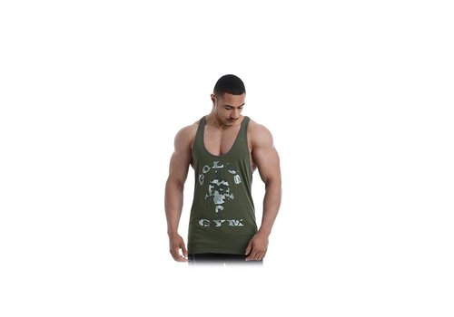Gold's Gym Gold's Gym  stringer army groen