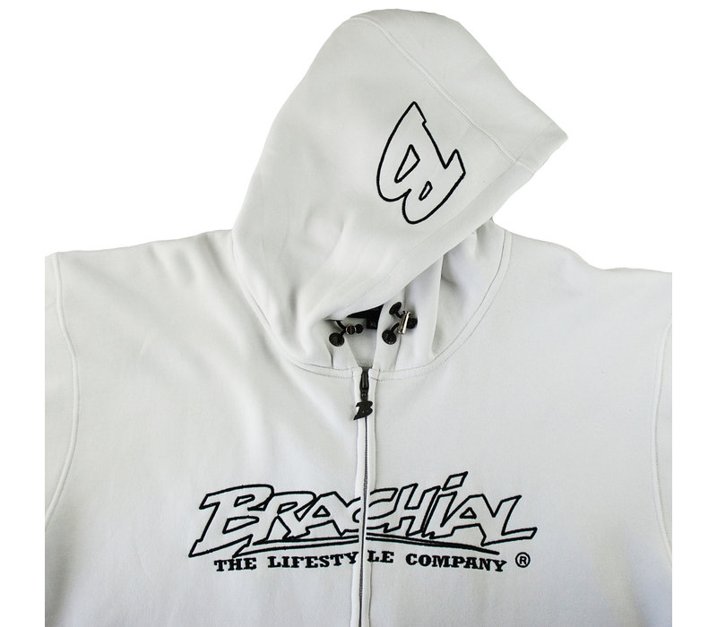 "Brachial Zip-Hoody ""Gain"" white"