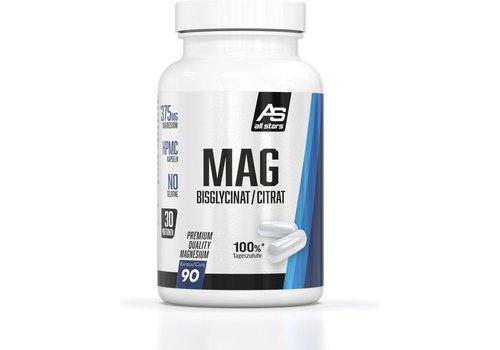 All Stars All Stars Mag Magenesium bisglycinat/citrat 90 caps