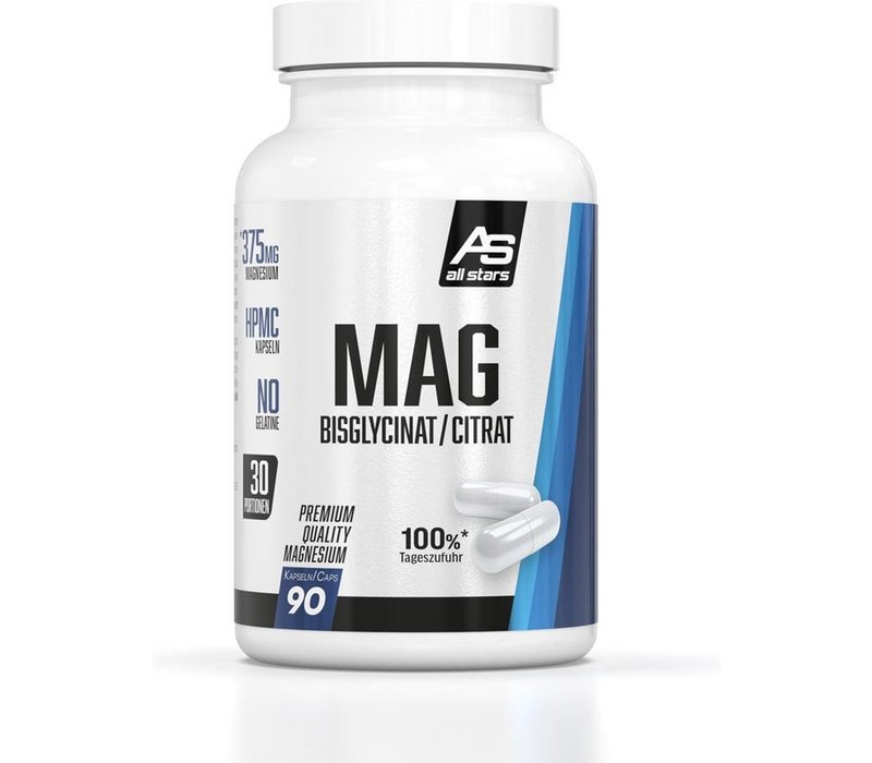 All Stars Mag Magenesium bisglycinat/citrat 90 caps