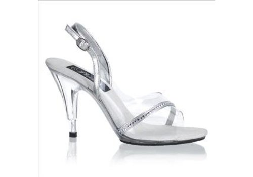 Pleaser Pleaser caress 456 silver clear