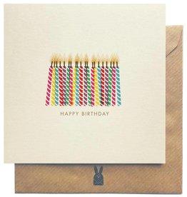 Bold Bunny Bold Bunny Card Happy Birthday Candles