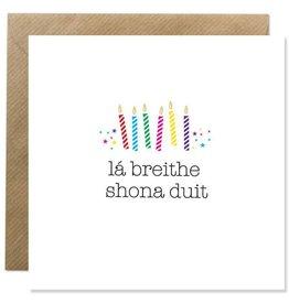 Bold Bunny Bold Bunny Card La Breithe Shona Duit