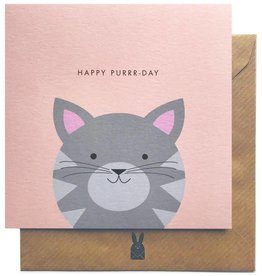 Bold Bunny Bold Bunny Card Happy Purrr-Day