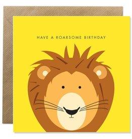 Bold Bunny Bold Bunny Card Roarsome Birthday (yellow)