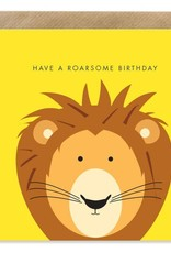 Bold Bunny Bold Bunny Card Roarsome Birthday (yellow)