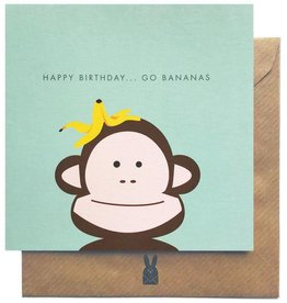 Bold Bunny Bold Bunny Card Happy Birthday...Go Bananas