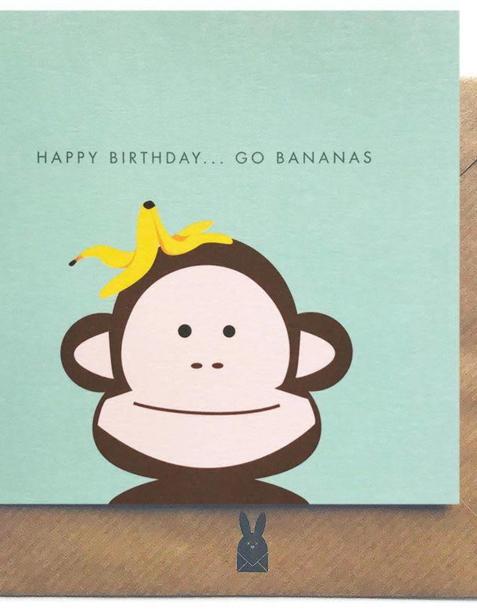 Bold Bunny Bold Bunny Card Happy Birthday...Go Bananas