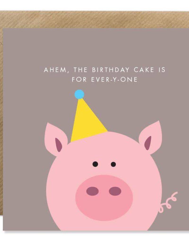 Bold Bunny Bold Bunny Card Ahem, The Birthday Cake...