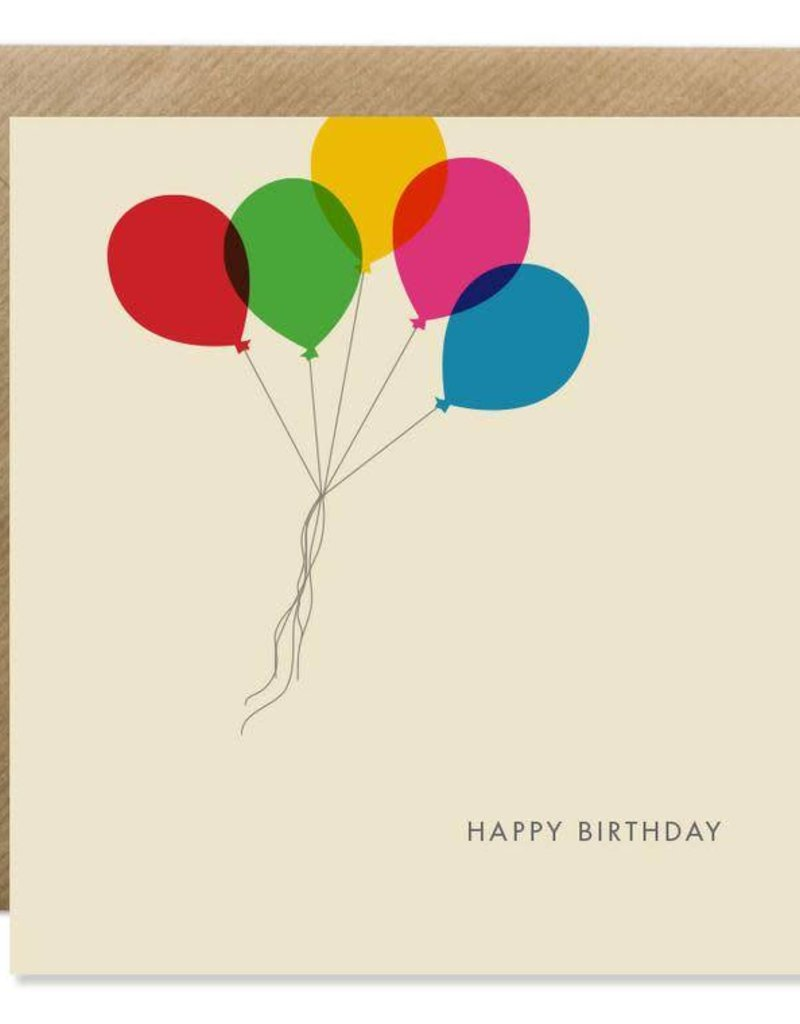 Bold Bunny Bold Bunny Card Happy Birthday Balloons