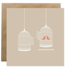 Bold Bunny Bold Bunny Card Birdcage Congratulations