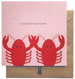 Bold Bunny Bold Bunny Card Lobster Congratulations