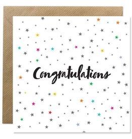Bold Bunny Bold Bunny Card Congratulations Stars