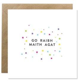 Bold Bunny Bold Bunny Card Go Raibh Maith Agat