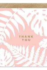Bold Bunny Bold Bunny Card Thank You Botanical