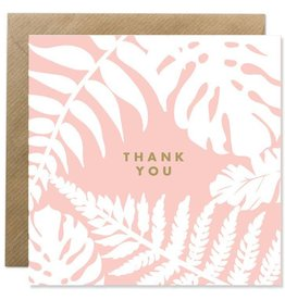 Bold Bunny Bold Bunny Card Thank You Botanical