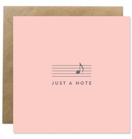 Bold Bunny Bold Bunny Card Just A Note blush pink