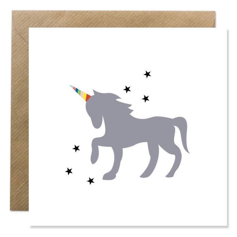 Bold Bunny Bold Bunny Card Unicorn & Stars
