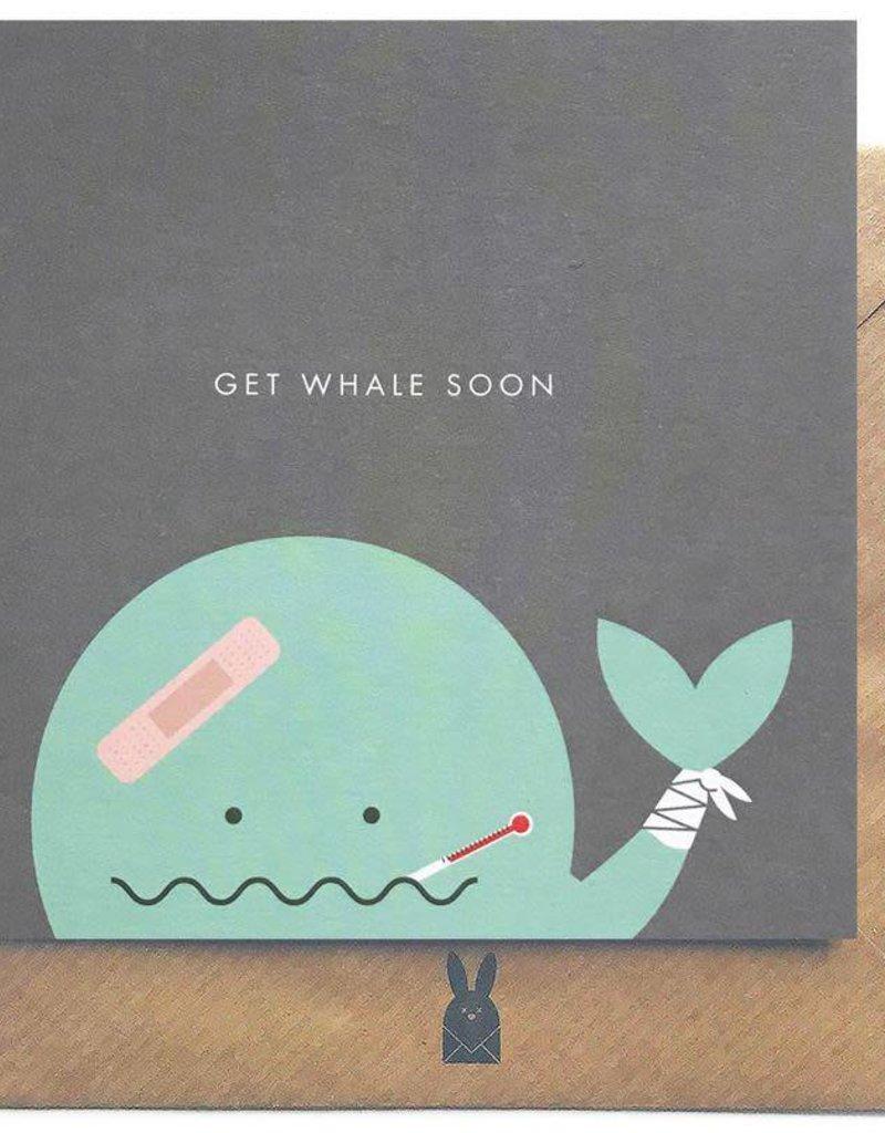 Bold Bunny Bold Bunny Card Get Whale Soon