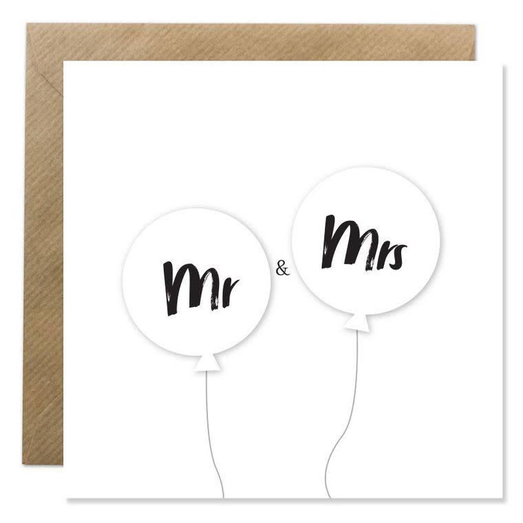 Bold Bunny Bold Bunny Card Mr & Mrs