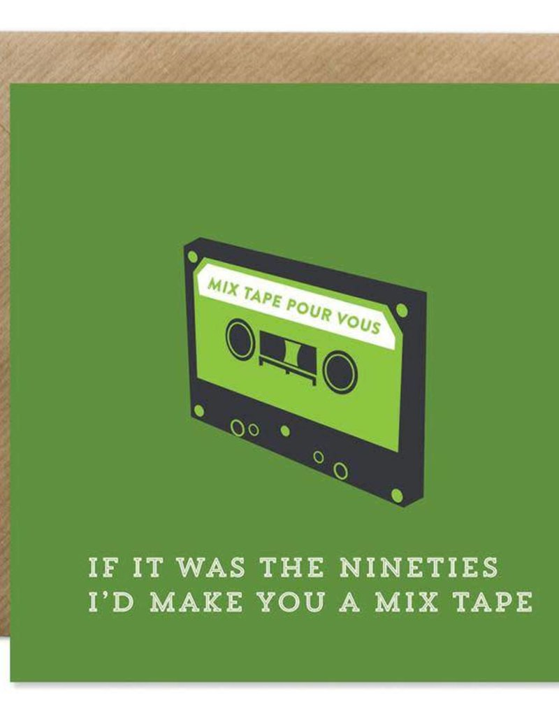 Bold Bunny Bold Bunny Card I'd Make You A Mixtape