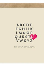 Bold Bunny Bold Bunny Card My Heart is With U