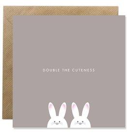 Bold Bunny Card Double The Cuteness