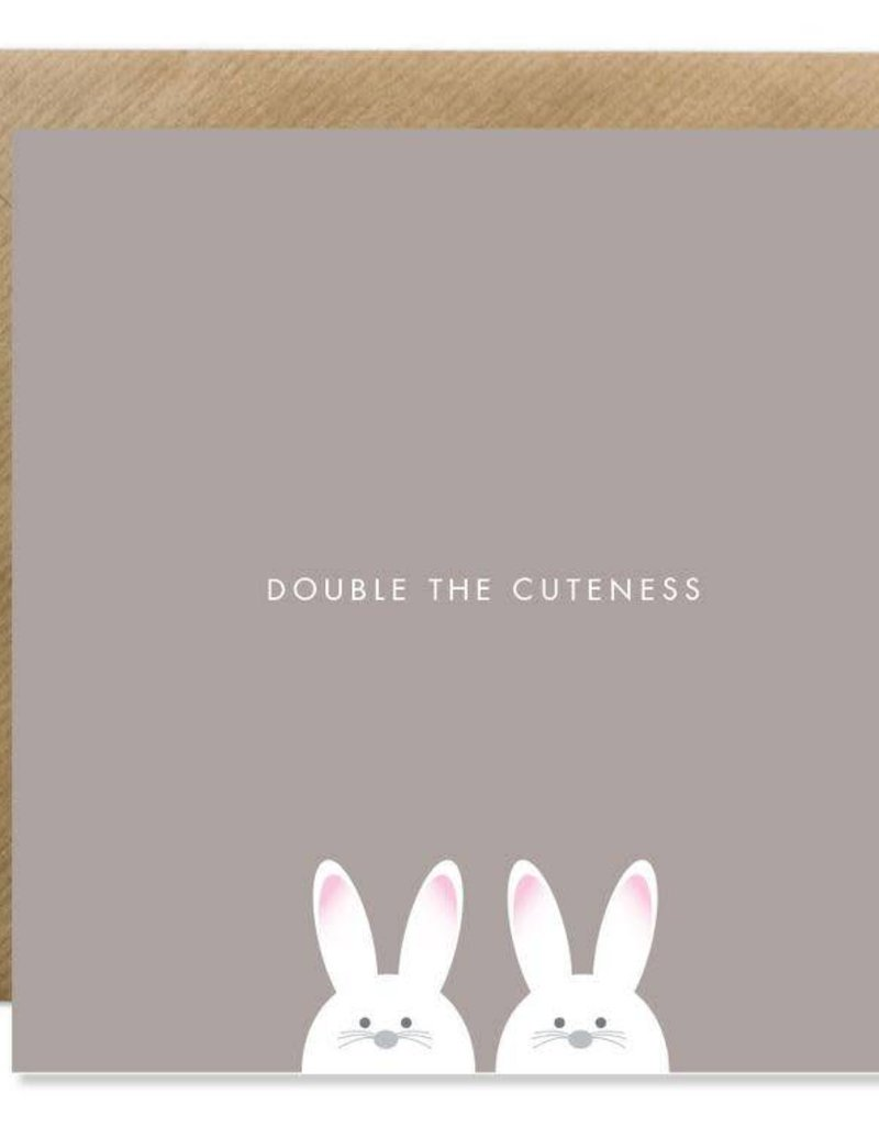 Bold Bunny Card Double The Cuteness