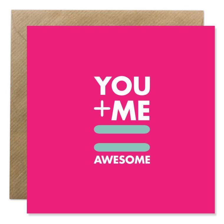 Bold Bunny Bold Bunny Card You + Me = Awesome