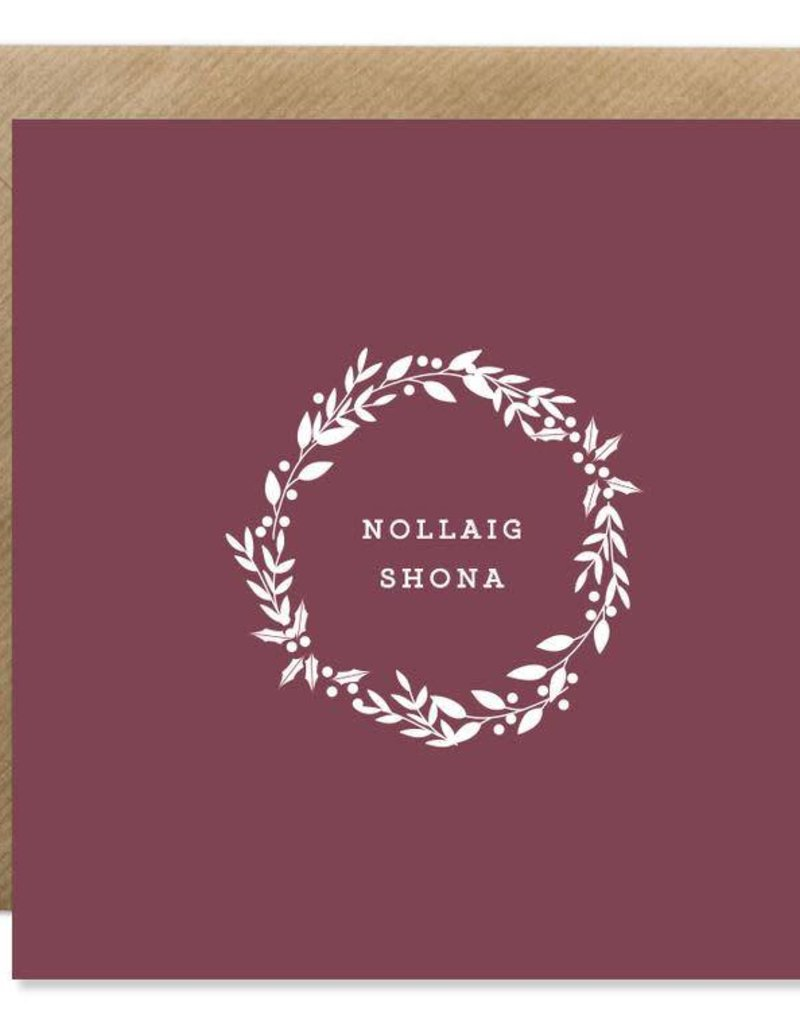 Bold Bunny Bold Bunny Card Nollaig Shona Wreath
