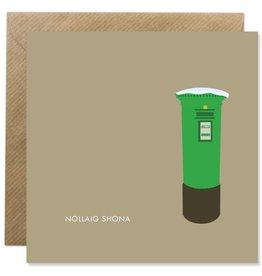 Bold Bunny Bold Bunny Card Nollaig Shona Postbox