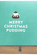 Bold Bunny Bold Bunny Card Merry Christmas Pudding