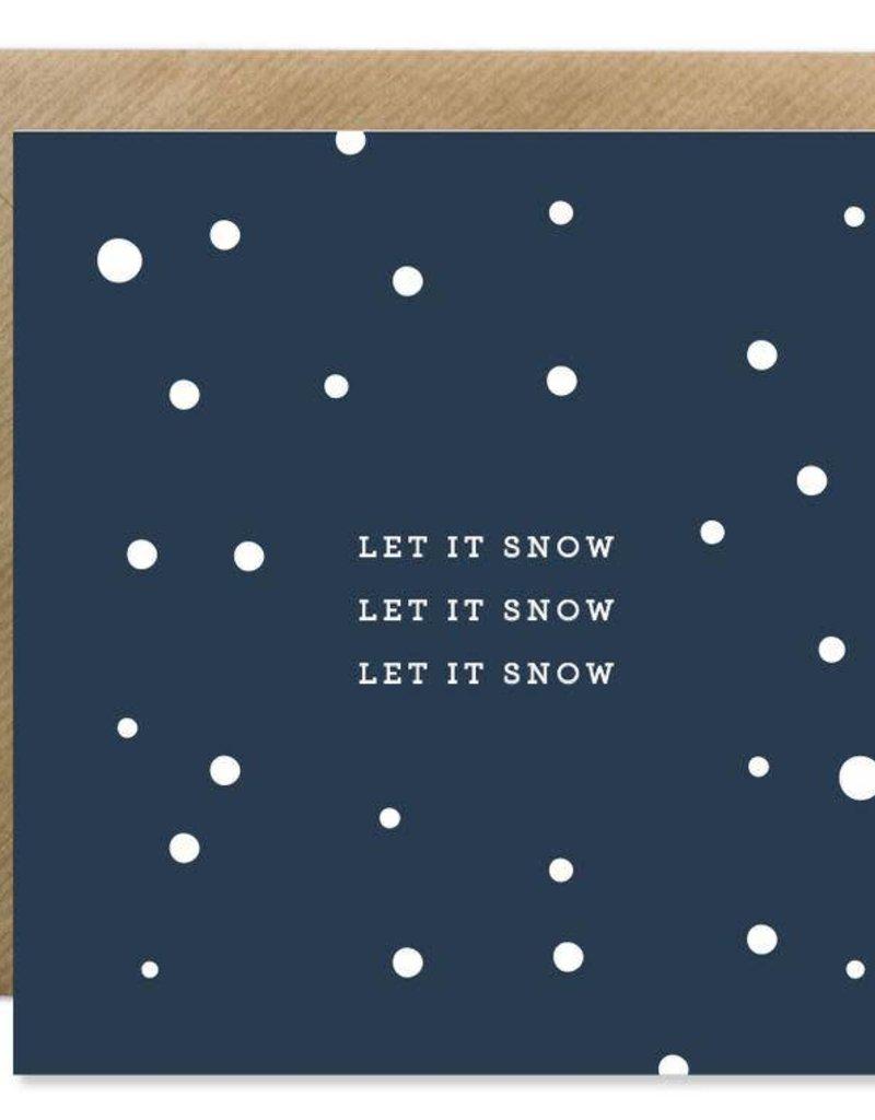 Bold Bunny Bold Bunny Card Let It Snow