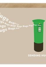 Bold Bunny Card Sending Hugs
